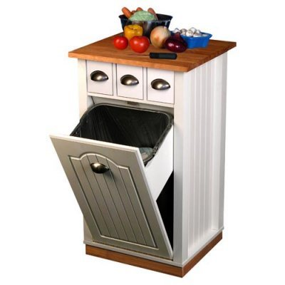 Cheap Venture Horizon Holden Kitchen Island With Hidden Trash Bin And Pantry 4124 Reviews