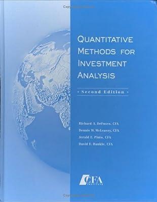 Quantitative Methods For Investment Analysis (English)