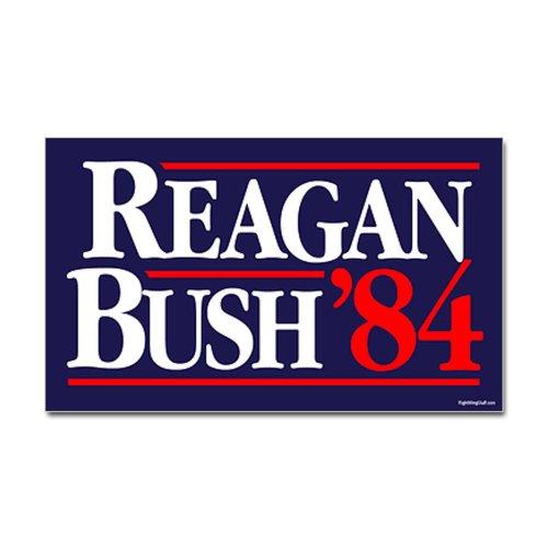 CafePress - Reagan Bush '84 Campaign Sticker (Rectangle) - Rectangle Bumper Sticker Car Decal (Bush Campaign compare prices)