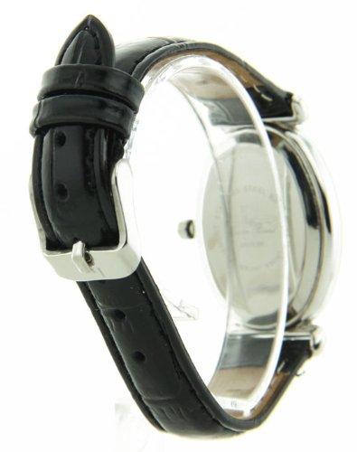 Lucien Piccard 28178BK Womens Diamond Collection Black Leather Watch карабин black diamond black diamond rocklock twistlock