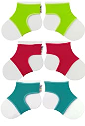 Sock Ons Clever Little Things That Keep Baby Socks On! 3 Pack Brights 6 - 12 Months