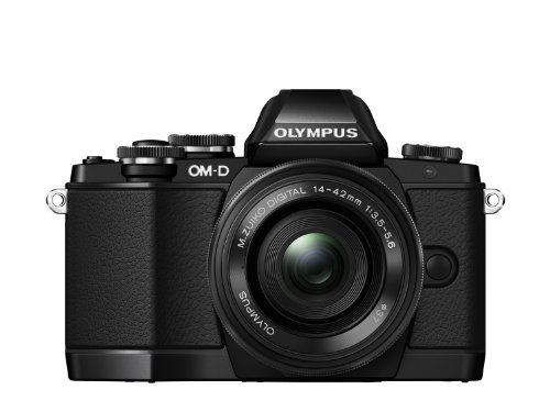 Olympus OM-D E-M10 Pancake Grip Kit with Power Zoom Pancake M.Zuiko Digital ED 14-42mm EZ Lens and ECG-1 Grip - Black (16.1MP, Live MOS) 3.0 inch Tiltable LCD