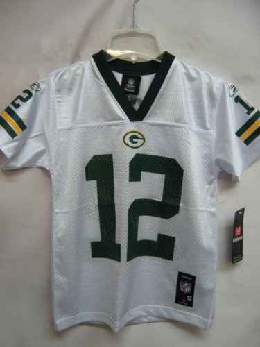 DISCOUNT Aaron Rodgers Green Bay Packers White Mid-Tier NFL Youth ... ebf5b777d