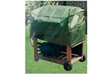 TROLLEY BARBEQUE COVER WATERPROOF PE MATERIAL 51 x 55 x 19 CM EASY FIX AND CLEAN