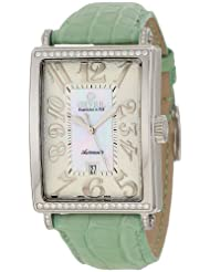 Gevril Women's 6209NT Glamour Automatic White Diamond Watch