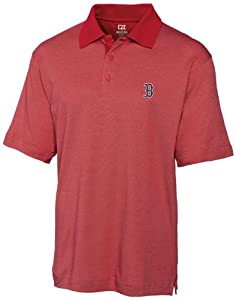 MLB Boston Red Sox Mens Drytec Resolute Polo Knit Short Sleeve Top by Cutter & Buck