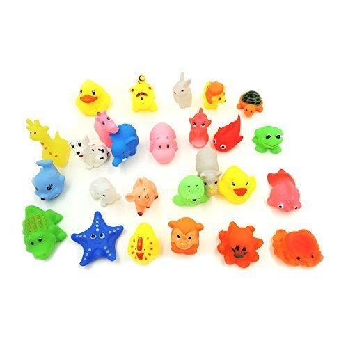 XKX Mini Rubber Baby Bath Toy(26-Pack)