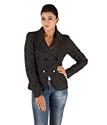 Owncraft Women's Woolen Jacket (Own_132_Black_Small)