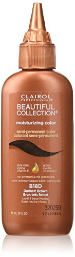 Clairol Professional Beautiful Collection Semi-permanent Hair Color, Darkest Brown (Semi Permanent Brown Hair Dye compare prices)
