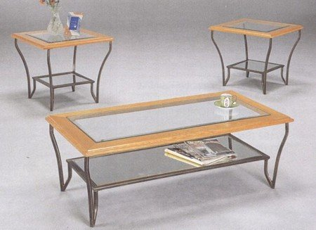 Buy Low Price Matrix Coffee Table Set Wrought Iron with 8mm Beveled