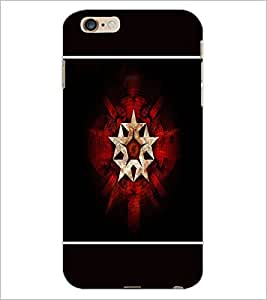 PrintDhaba Star Pattern D-1319 Back Case Cover for APPLE IPHONE 6 (Multi-Coloured)