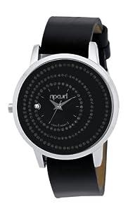 Rip Curl RIVIERA A2341G - Reloj para niñas de cuarzo, correa de piel color negro