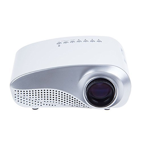 Aometech K10 Upgraded Led Mini Portable Game Projector Pico Projector Cinema Theater Pc & Laptop With Hdmi Interface -White Color: K10-Wh Size: K10 Pc, Personal Computer