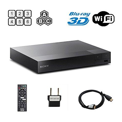 Sony BDP-S5500 Multi Region Blu-ray DVD Region Free Player 110-240 volts, Dynastar HDMI Cable & Dynastar Plug Adapter Package Wifi / 3D / Smart Region Free