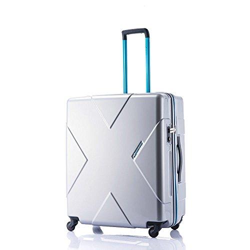 HIDEO WAKAMATSU(ヒデオワカマツ) メガマックス 無料飛行機預け可能 最大級容量105Lスーツケース シルバー (85-75955)
