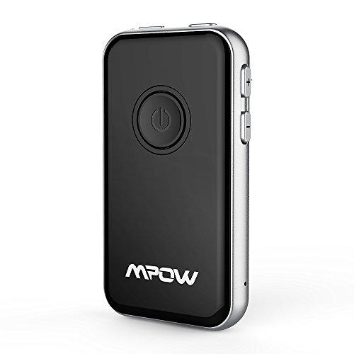 Mpow Transmetteur Récepteur Bluetooth 4.1, Emetteur Récepteur 2-en-1 sans Fil Prise 3,5 mm Adaptateur Audio pour Casque, Haut - Parleur, TV, PC, Stéréos de Voiture, MP3, MP4, Compatibilité pour iPhone 7[Cadeau Noël/Chrismas]