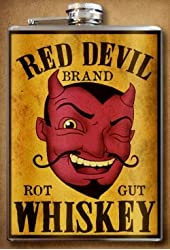 Red Devil Whiskey Stainless Steel Flask