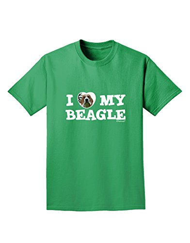 Tooloud I Heart My Beagle Adult Dark T-Shirt - Kelly Green - Small