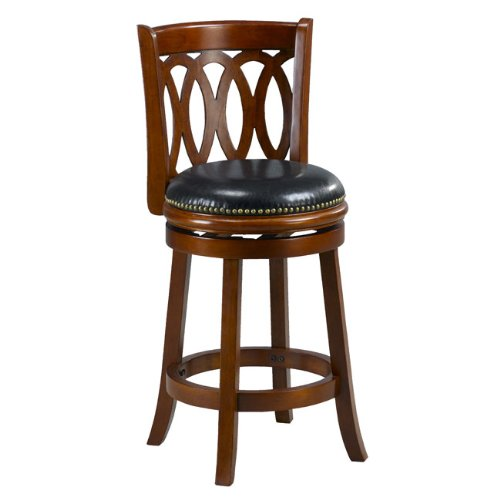 Cherry Spiral Back Swivel Counter Stool Kegucos