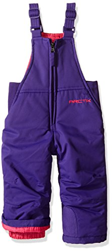 Arctix Chest High Insulated Snow Bib Overall, Purple, 18 Months