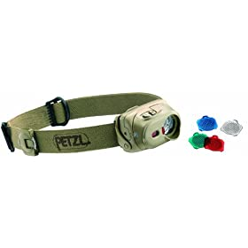 Petzl E 89 MPD Tactikka XP Headlamp, Desert
