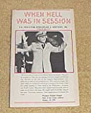 img - for When Hell Was in Session by U.S. Senator Jermiah A. Denton, Jr. With Ed Brandt (Signed By Author) Paperback 1982 book / textbook / text book