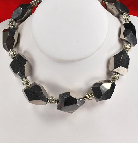 Silver Crystal Silver Toggle Necklace N1_0911_56