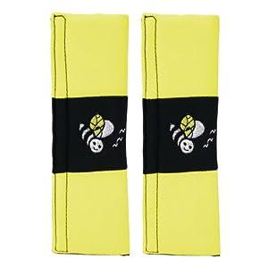 Carpoint 1410080 - Fundas para cinturón de seguridad, color amarillo de CARPOINT