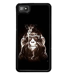 printtech Cool Monkey Glasses Smoke Back Case Cover for BlackBerry Z10