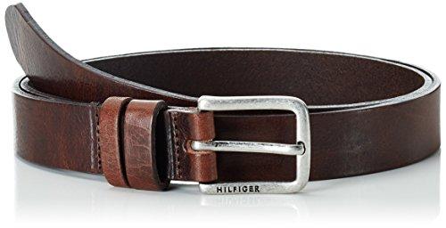 Tommy Hilfiger Jeans Slim Belt, Cintura Donna, Marrone (Dark Brown 244), 90 (Taglia Produttore:90)