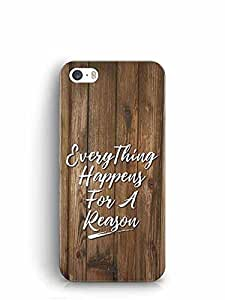 YuBingo Everything Happens For A Reason Designer Mobile Case Back Cover for Apple iPhone SE