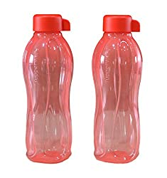Tupperware Aquasafe Bottle (500ml) Red, Set Of 2