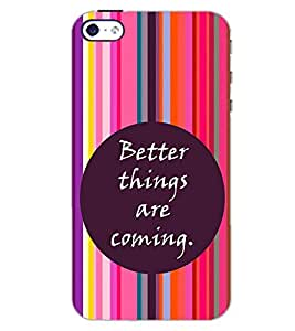 PrintDhaba QUOTE D-6965 Back Case Cover for APPLE IPHONE 4S (Multi-Coloured)