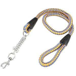Jardin Dog Braided Leashes with Steel Trigger Hook, Orange/Blue