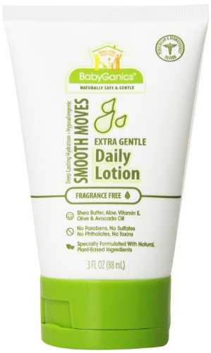 Babyganics Smooth Moves, Extra Gentle Daily Lotion, Fragrance Free, 3-Ounce (Pack Of 3)