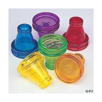 12 Plastic Transparent Prisms