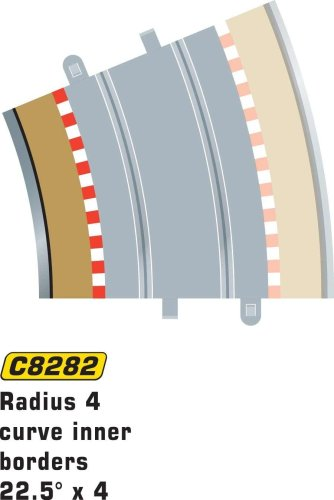 Scalextric C8282 Borders Tan Inner Radius - 22.5 Degrees - 1