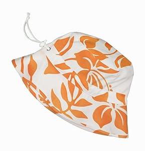 Snapper Rock Chapeau pour garçon Motif hibiscus Orange/blanc Taille 0-2ans