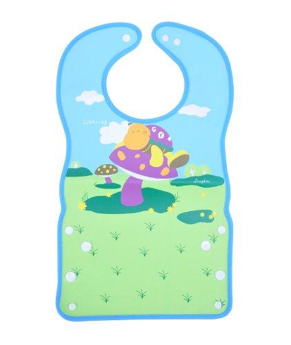 "Catch-All Mealtime Waterproof Baby Bib, Mushroom, 17.72""L"