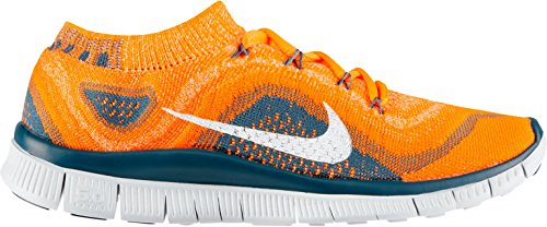low priced c5d30 e2687 Nike FLYKNIT+ 5.0 Platinum Orange Men Running Shoes 615805 810 sz 8.5