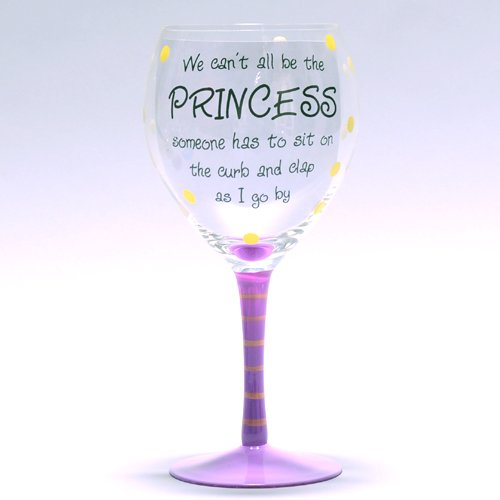 pottery wheel discount we can 39 t all be the princess wine glass. Black Bedroom Furniture Sets. Home Design Ideas