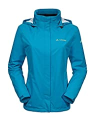 Vaude Escape rain jacket womens Ladies Light blue Size 40 2014