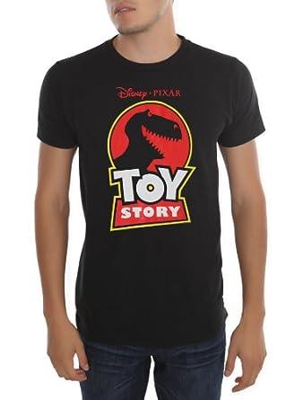 Disney Pixar Toy Story Rex Logo Mens Black T