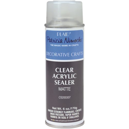 Plaid Craft Clear Acrylic Sealer Aerosol Spray (6-Ounce), CS200307 Matte (Pencil Sealer compare prices)