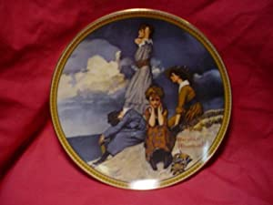 "Norman Rockwell Collector Plate ""Waiting on the Shore"""