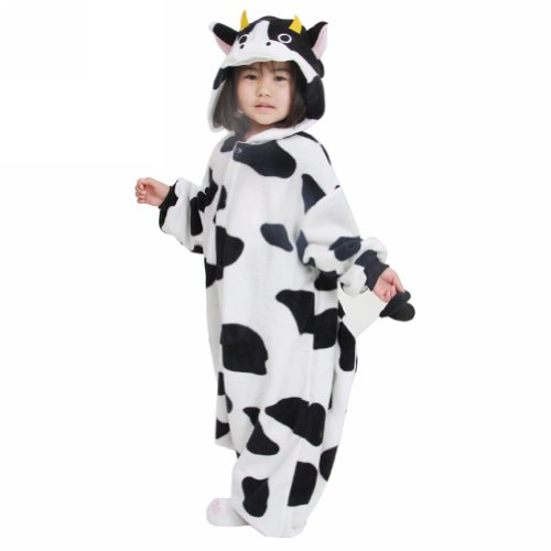 Ferrand Pajamas Kigurumi Children's Unisex Cosplay Animal Costume Onesie For Kids Cow