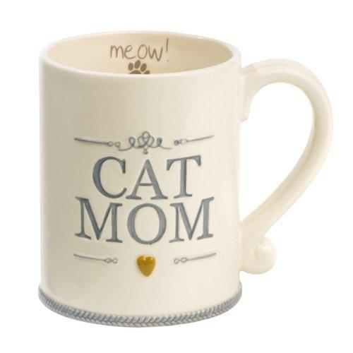 """Cat Mom"" Ceramic Coffee Mug Meow Animal Pet Lover Gift Grasslands Road"