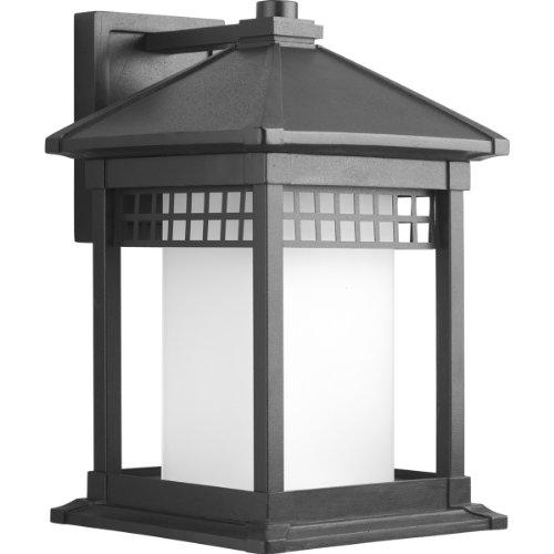 Progress Lighting P6002-31 Merit Collection 1-Light Wall Lantern, Black