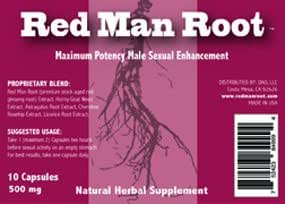 Red Man Root All-Natural Male Enhancement Pills