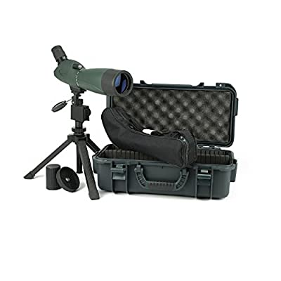 Hawke Sport Optics 51100 Vantage 20-60X60 7 Angled Spotting Scope Kit, Green and Black by Sportsman Supply Inc.
